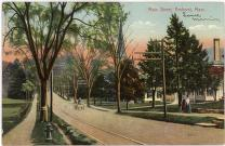 view of main street in Amherst, MA