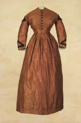 Brown Wedding Dress from 1865
